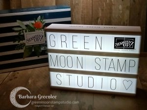 Stampin' Up! gave us this cool light box with a set of characters to spell whatever you want.