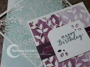 close up of the happy birthday make and take card