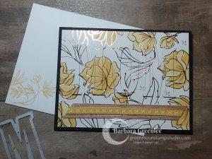 Eclipse technique on mothers day card using springtime foils designer paper