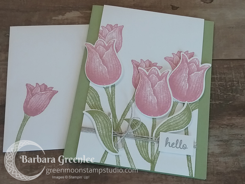 Timeless Tulips card from Stampin' Up! OnStage in Vegas.